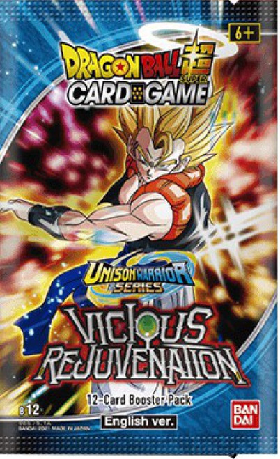Dragon Ball Super Collectible Card Game Unison Warrior Series 3 Vicious Rejuvenation Booster Pack B12 [12 Cards] (Pre-Order ships January)
