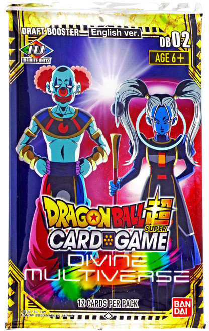 Dragon Ball Super Trading Card Game Draft Box 05 Divine Multiverse Booster Pack DB02 [12 Cards]