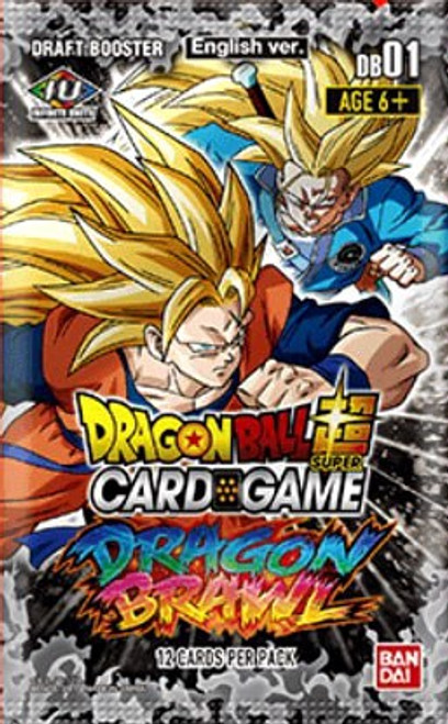 Dragon Ball Super Collectible Card Game Draft Box 04 Dragon Brawl Booster Pack DB01 [12 Cards] (Pre-Order ships February)