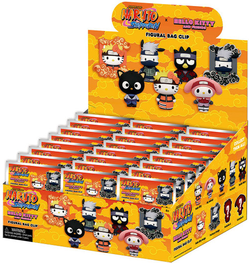 Naruto Shippuden 3D Figural Keyring Hello Kitty x Naruto Mystery Box [24 Packs] (Pre-Order ships September)