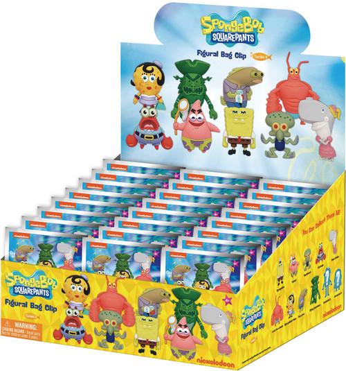 Nickelodeon 3D Figural Foam Bag Clip SpongeBob Mystery Box [24 Packs] (Pre-Order ships August)