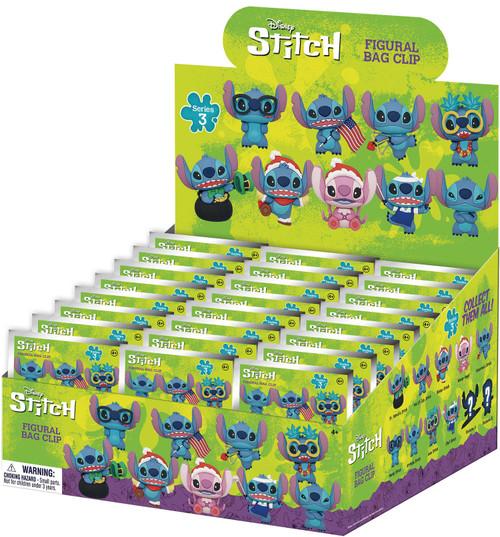 Disney 3D Figural Foam Bag Clip Stitich Series 3 Mystery Box [24 Packs] (Pre-Order ships April)