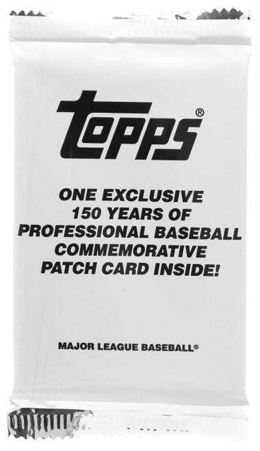 MLB Topps 2019 Update Baseball 150 Years of Professional Baseball Commemorative Patch Card