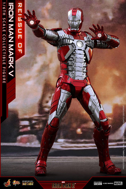 Marvel Iron Man 2 Movie Masterpiece Diecast Iron Man Mark V Collectible Figure [Re-Issue] (Pre-Order ships June 2022)