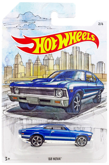Hot Wheels Detroit Muscle '68 Nova Diecast Car #2/6