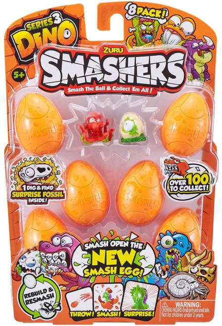 Smashers Series 3 Dino Mini Figure 8-Pack [Damaged Package]