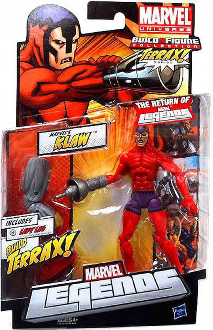 Marvel Legends 2012 Terrax Series Klaw Action Figure [Damaged Package]