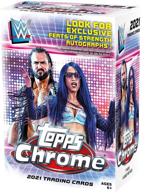WWE Wrestling Topps 2020 Chrome 2021 Chrome Trading Card BLASTER Box [7 Packs + 1 Bonus Pack] (Pre-Order ships June)