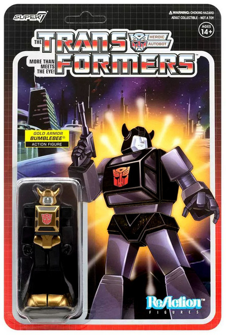 ReAction Transformers Bumblebee Exclusive Action Figure [Gold Armor]