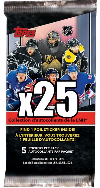 NHL Topps 2020-21 Hockey LOT of 25 Mystery Packs