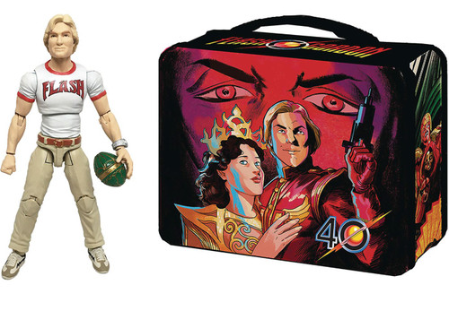 Hero H.A.C.K.S. Flash Gordon Action Figure & Tin Lunch Box
