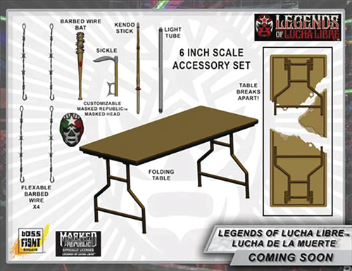 Legends of Lucha Libre Hero H.A.C.K.S. Lucha De La Muerte 4-Inch Premium Accessory Pack (Pre-Order ships June)