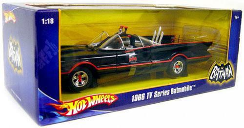 Hot Wheels Batman 1966 TV Series Batmobile Diecast Car [1:18, Damaged Package]