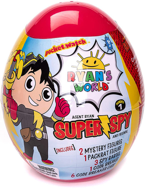 Ryan's World Super Spy Series 1 Agent Ryan & Friends Micro Egg Exclusive Mystery Surprise