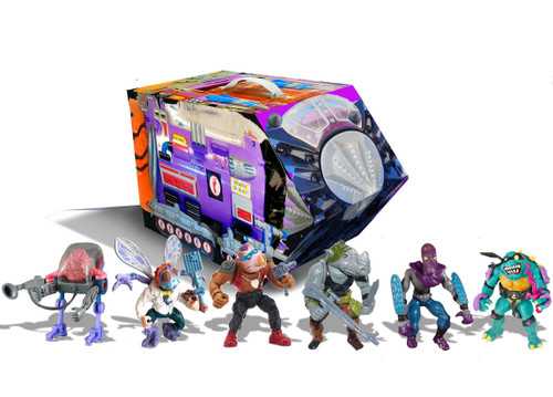 Teenage Mutant Ninja Turtles TMNT 1987 Retro Villains Mutant Module Exclusive Action Figure 6-Pack [Bebop, Rocksteady, Baxter Stockman, Slash, Krang & Foot Soldier] (Pre-Order ships October)