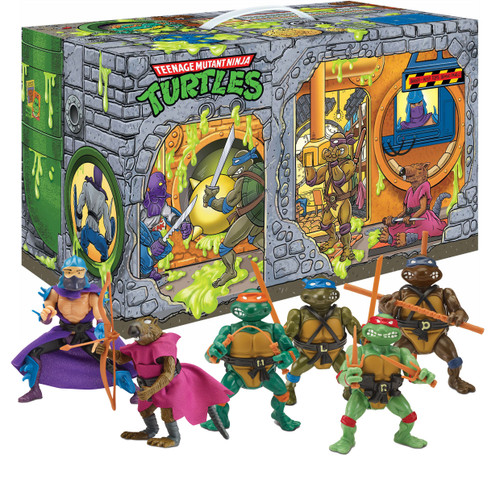 Teenage Mutant Ninja Turtles TMNT 1987 Retro Rotocast Sewer Lair Exclusive Action Figure 6-Pack [Leonardo, Donatello, Michelangelo, Raphael, Shredder & Splinter] (Pre-Order ships October)