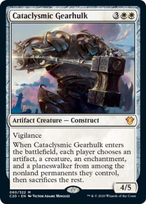 MtG Commander 2020 Mythic Rare Cataclysmic Gearhulk #80