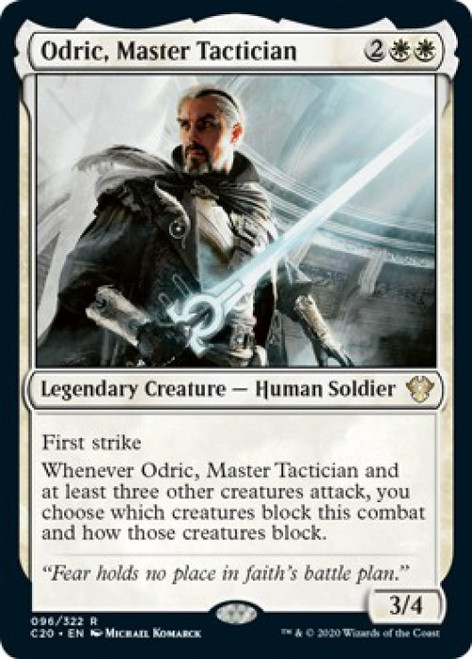 MtG Commander 2020 Rare Odric, Master Tactician #96