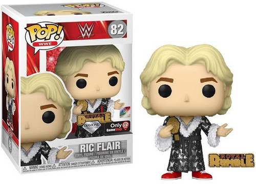 Funko WWE Wrestling POP! WWE Ric Flair Exclusive Vinyl Figure #82 [Royal Rumble Diamond Collection with Pin]