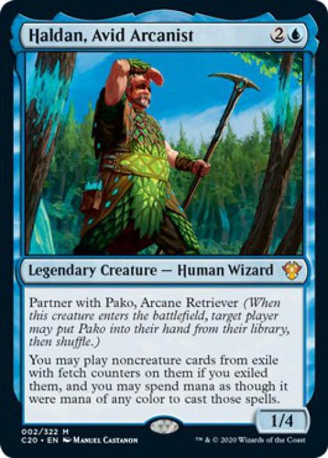 MtG Commander 2020 Mythic Rare Foil Haldan, Avid Arcanist #2