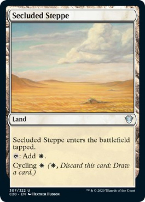MtG Commander 2020 Uncommon Secluded Steppe #307