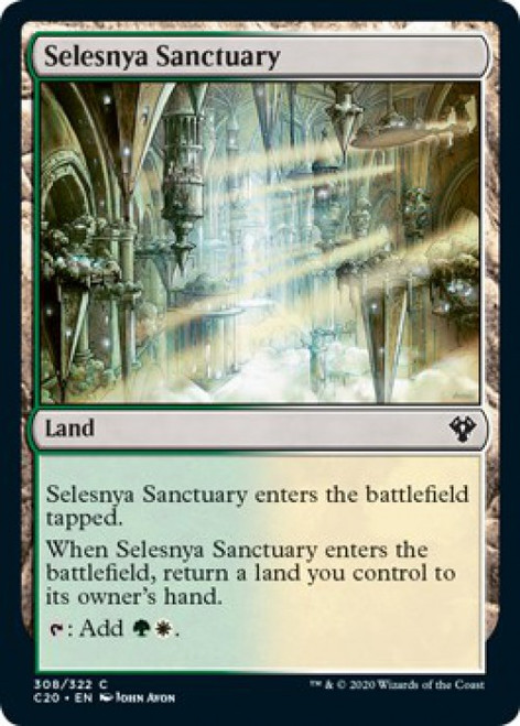 MtG Commander 2020 Common Selesnya Sanctuary #308