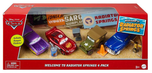 Disney / Pixar Cars Cars 3 Welcome to Radiator Springs Diecast Car 4-Pack [Lightning McQueen, Doc Hudson, Ramone & Sarge]