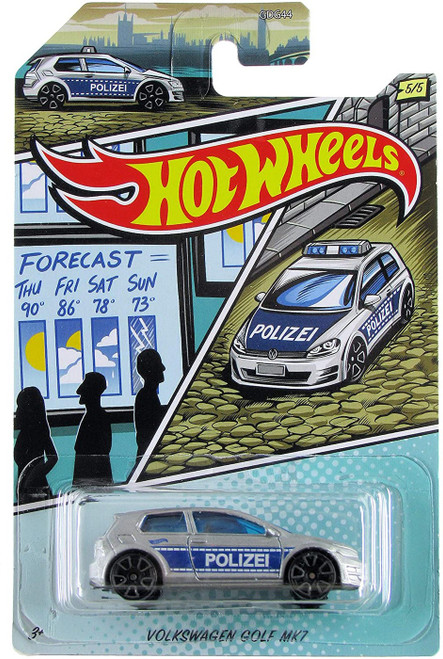 Hot Wheels HW Police Volkswagen Golf Mk7 Diecast Car #5/5