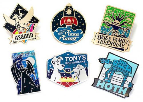Disney Twenty Three Fantastic Worlds Pin Set