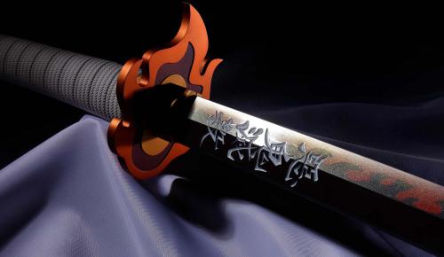 Demon Slayer: Kimetsu no Yaiba Proplica Nichirin Sword 37.4-Inch Prop Replica [Kyojuro Rengoku] (Pre-Order ships August)