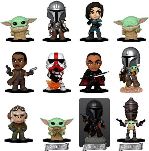Funko Star Wars Mystery Minis The Mandalorian Exclusive Mystery Box [12 Packs, Exclusive Version] (Pre-Order ships April)