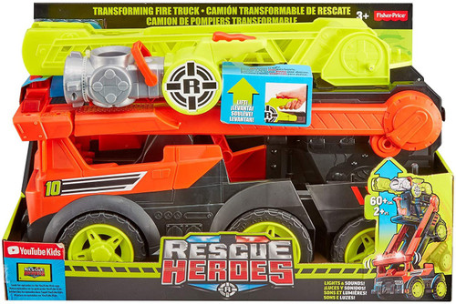 Fisher Price Rescue Heroes Transforming Firetruck 5.5-Inch Vehicle