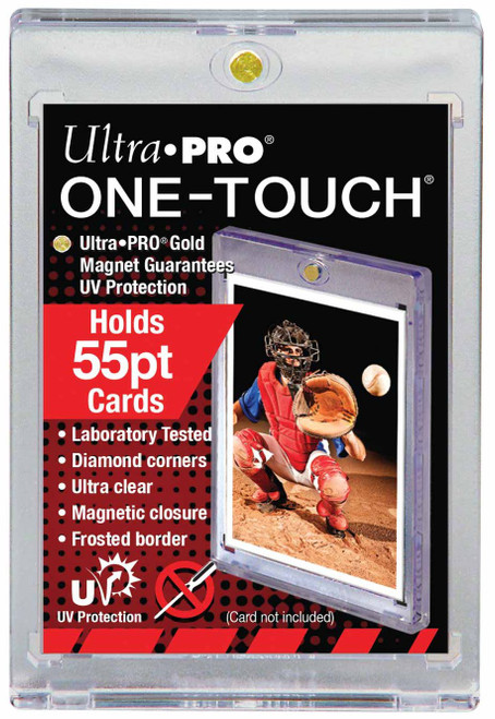 Ultra Pro Card Supplies UV Protection One-Touch Card Holder [Holds 55pt. Cards]