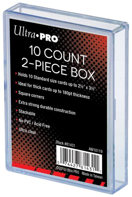 Ultra Pro Card Supplies 10 Count 2-Piece Storage Box