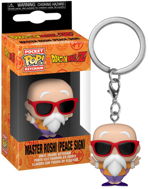 Funko Dragon Ball Z POP! Animation Master Roshi Keychain [Peace Sign] (Pre-Order ships April)