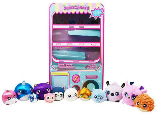 Squeezamals 12 Piece Vending Machine Collection Exclusive [Pink]