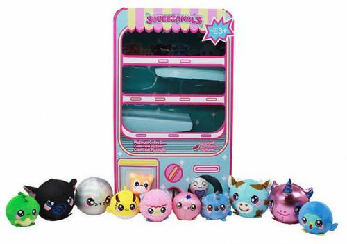 Squeezamals 12 Piece Vending Machine Collection Exclusive [Blue]