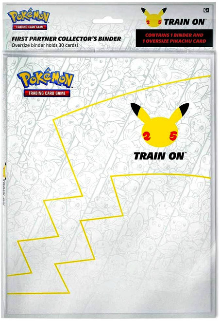 Pokemon First Partner Collector's Binder [Includes Oversize Pikachu Card, Holds Up To 30 Oversized Cards]