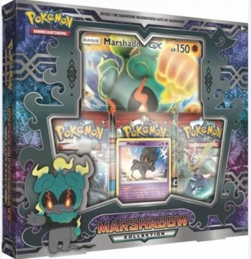 Pokemon Trading Card Game Sun & Moon Burning Shadows Marshadow Figure Collection Box [3 Booster Packs, Promo Card & Oversize Card!] (Pre-Order ships February)