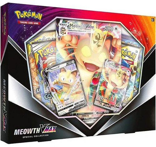 Pokemon Trading Card Game Meowth VMAX Special Collection [International] (Pre-Order ships February)