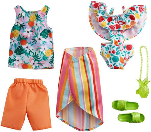 Barbie & Ken Fashions Tropical Tank Top & White Swimsuit Fashion 2-Pack