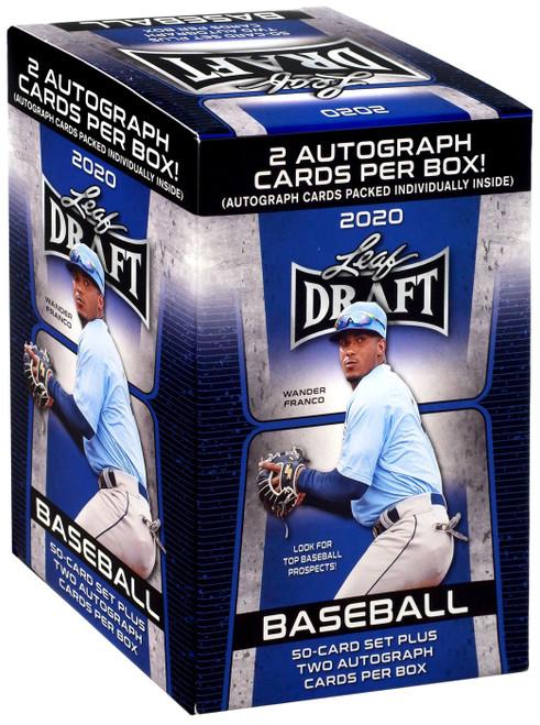 MLB 2020 Leaf Baseball Draft Trading Card HOBBY BLASTER Box [2 Autographs! Blue]