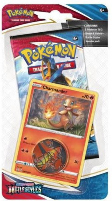 Pokemon Trading Card Game Sword & Shield Battle Styles Charmander Blister Pack [Booster Pack, Promo Card & Coin!] (Pre-Order ships March)