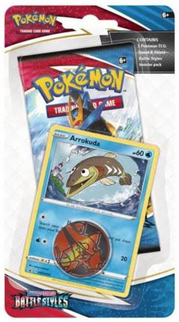 Pokemon Trading Card Game Sword & Shield Battle Styles Arrokuda Blister Pack (Pre-Order ships March)