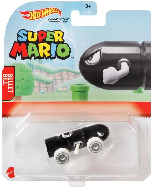 Hot Wheels Super Mario Character Cars Bullet Bill Diecast Car [2021]