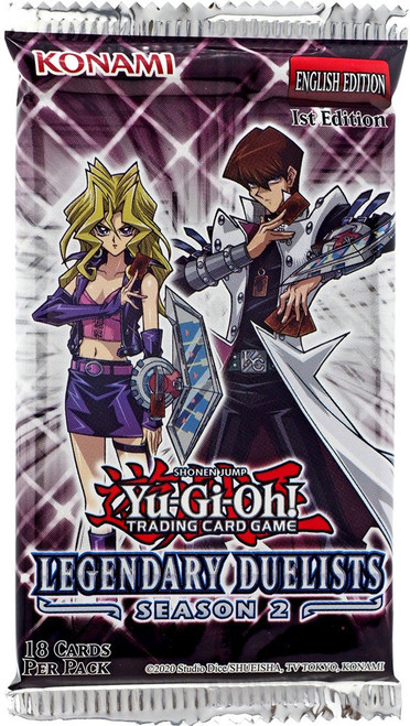 YuGiOh Trading Card Game Legendary Duelists Season 2 Booster Pack [18 Cards]