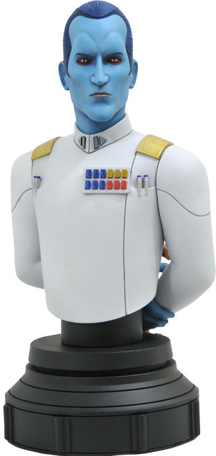 Star Wars Rebels: Animated Grand Admiral Thrawn Limited to 3000 Mini Bust (Pre-Order ships July)
