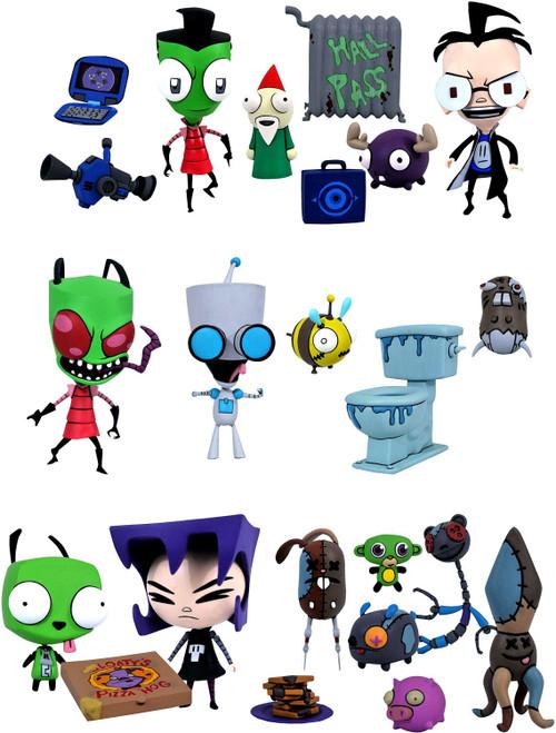 Invader Zim Select Series 1 Zim & Gir, Boy-Disguise Zim & Dib and Dog-Disguise Gir & Gaz Set of 3 Action Figures (Pre-Order ships November)
