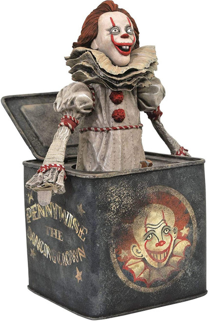 Horror IT Chapter 2 Pennywise in a Box 9-Inch Diorama PVC [Damaged Package]