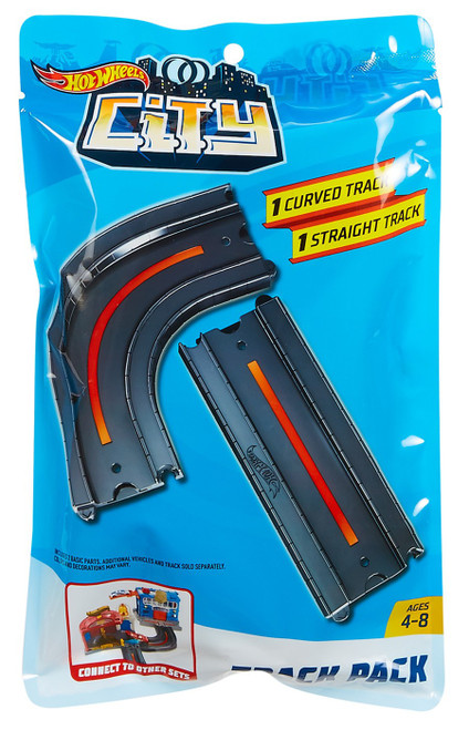 Hot Wheels City 1 Curved Track & 1 Straight Track Track Pack